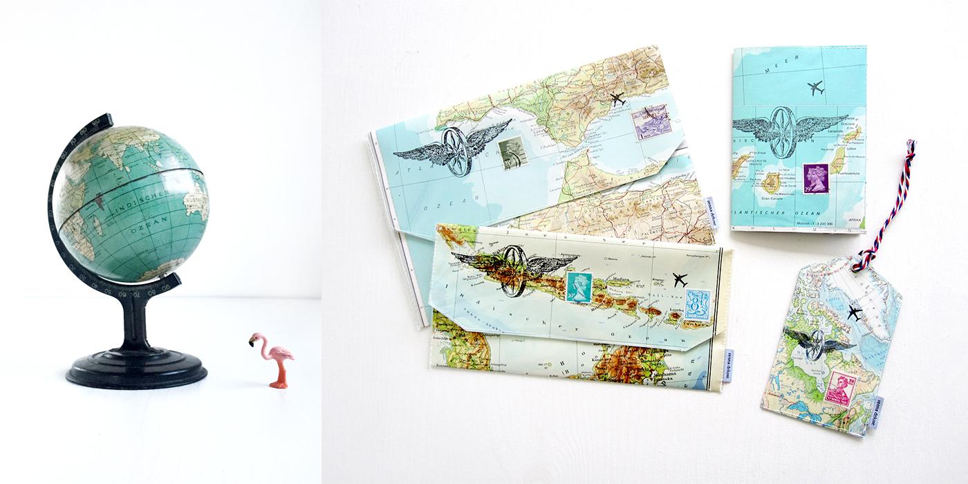 reiseetui-reisepasshuelle-kofferanhaenger-landkarte-renna-deluxe-vintage-upcycling